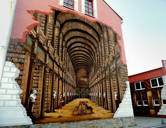Arte de rua - Biblioteca Mural