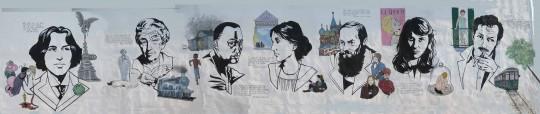 Arte de rua - Mural literário
