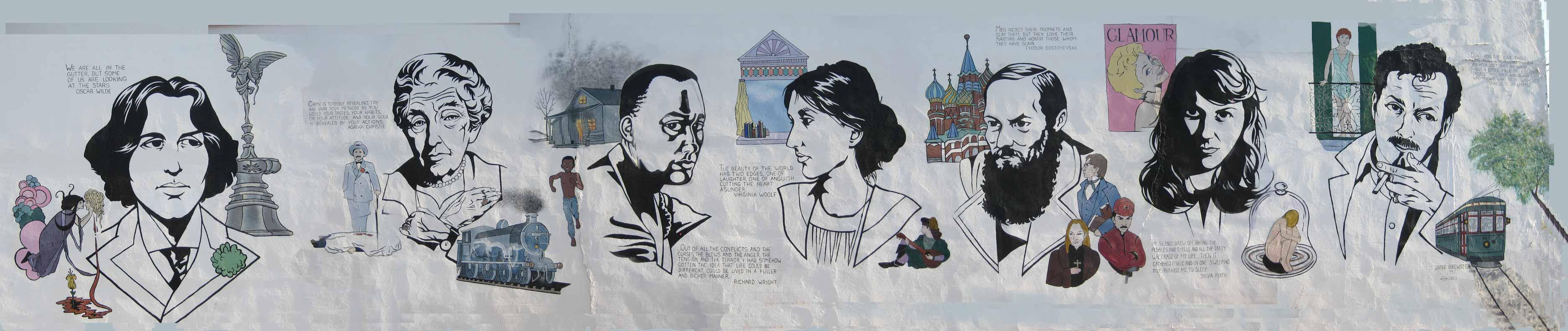 Street art - Literary Mural