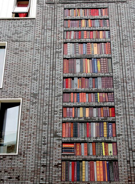 Street art - Wall of Books