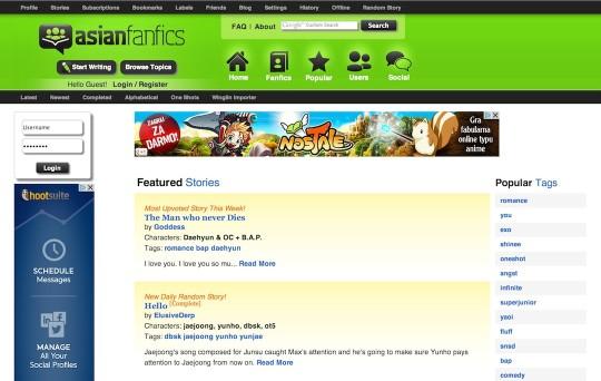 Fanfic websites - Asianfanfics