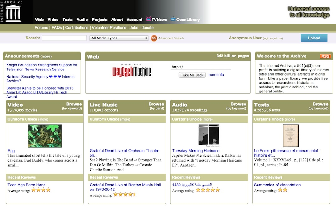 Fanfic websites - Internet Archive