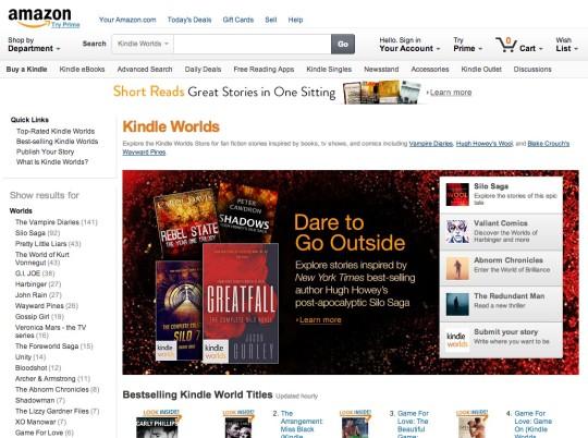 Fanfic websites - Kindle Worlds
