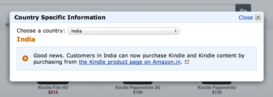 Kindle - Amazon US - India