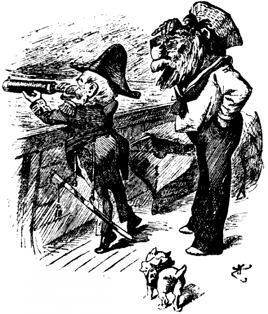 Illustration from Mr. Punch on the Warpath