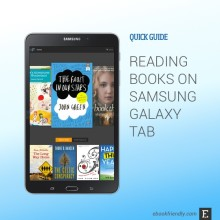 Reading books on Samsung Galaxy Tab - quick guide