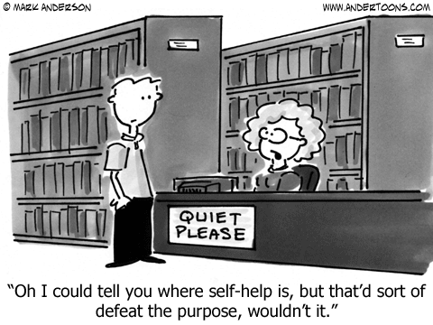 Andertoons - Library reference question - cartoon by Mark Anderson