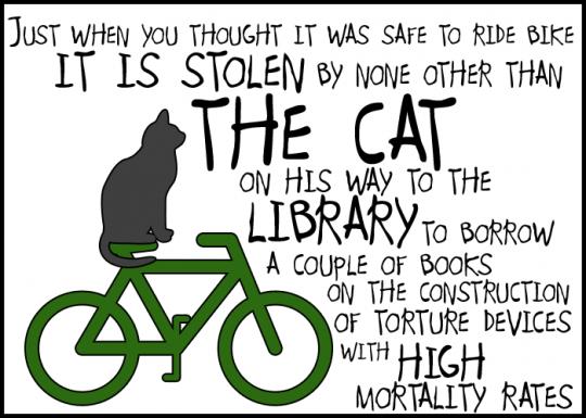 Bike - a cartoon by Spleens for Dinner