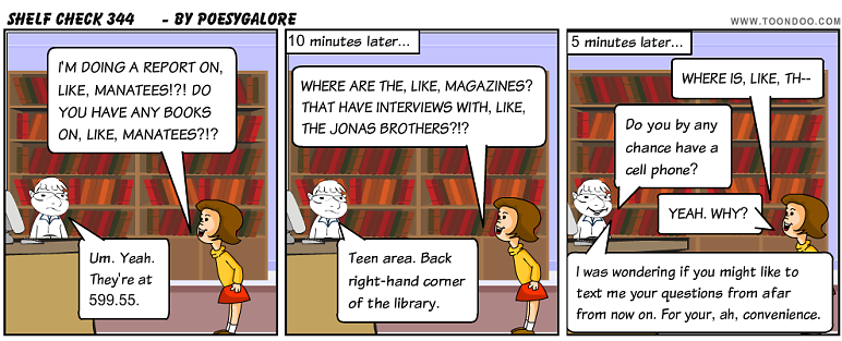 Shelf Check 344 - library cartoon by Emily Lloyd