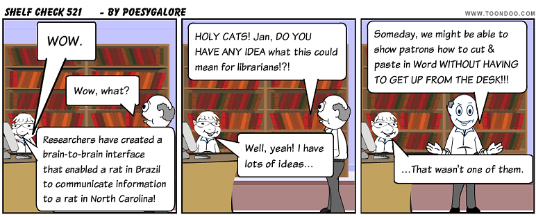 Shelf Check 521 - library cartoon by Emily Lloyd