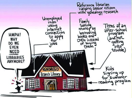 Why we need libraries #cartoon