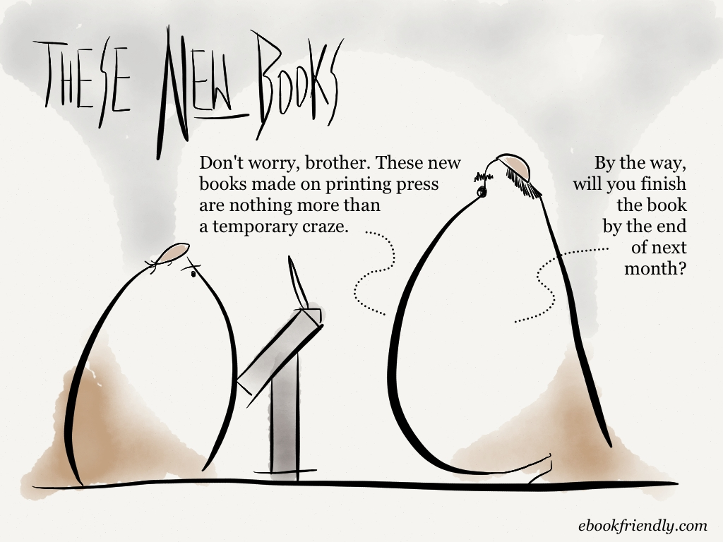 These new books [cartoon] | Ebook Friendly