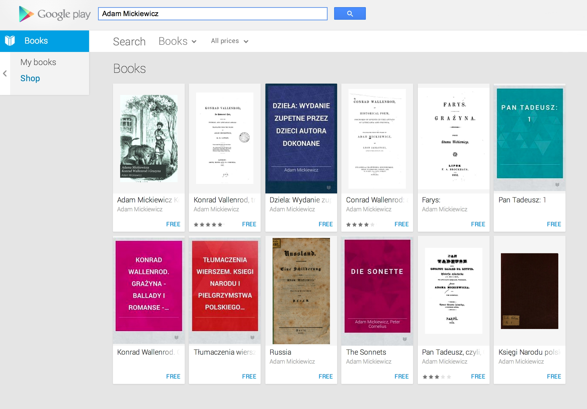 finding foreign language ebooks on google play books