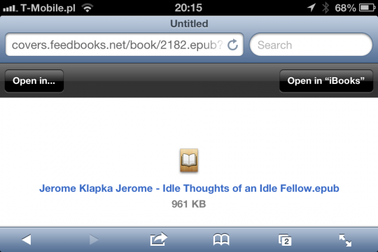 Add own books to iPhone iPad via Safari