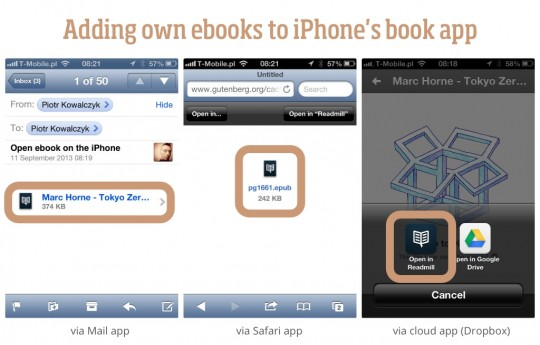 Adding own books to iPhone book app