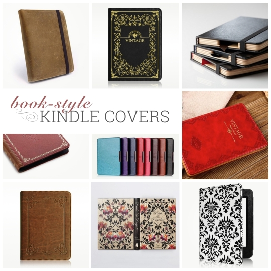 17 book-style case covers for Kindle, Kindle Paperwhite, and