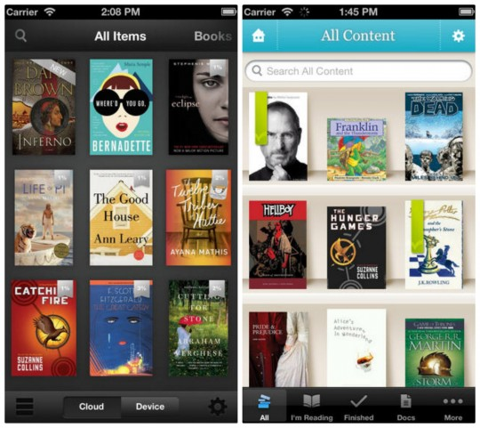 Kindle vs Kobo apps for iPhone
