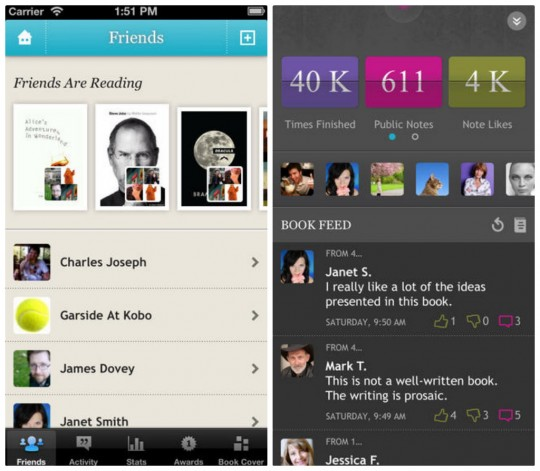 Kobo for iPhone and iPad screenshots