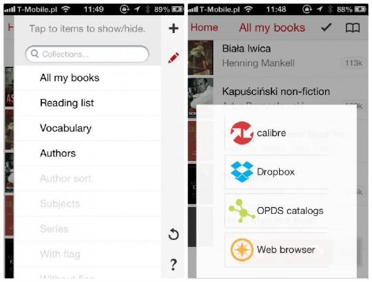 Marvin iOS book reader - organize