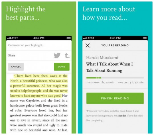 Readmill for iPhone and iPad screenshots