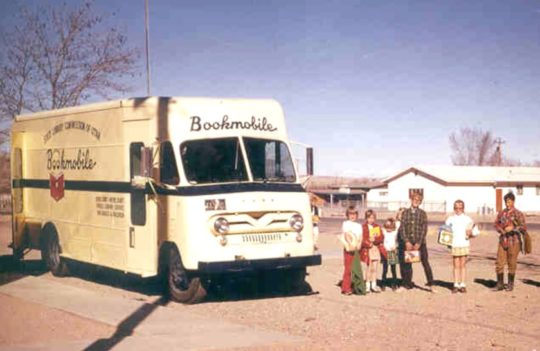 A 1965 bookmobile of the Utah State Library