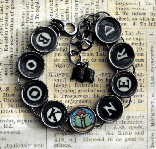 A Likely Story literary gifts - Book Nerd bracelet