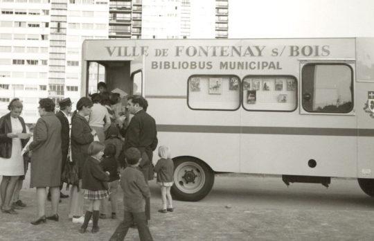 A bibliobus of Fontenay-sous-Bois Commune, France