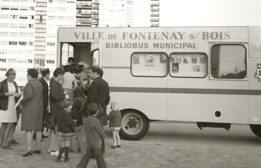 A bibliobus of Fontenay-sous-Bois Commune, France