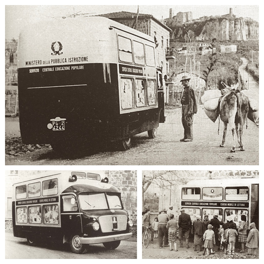 A bibliobus of the Perugia Library, 1955