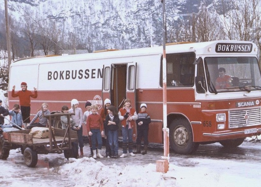 A bookbus of the Sogn and Fjordane County Library, Norway, 1990s