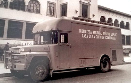 A bookmobile in Ecuador