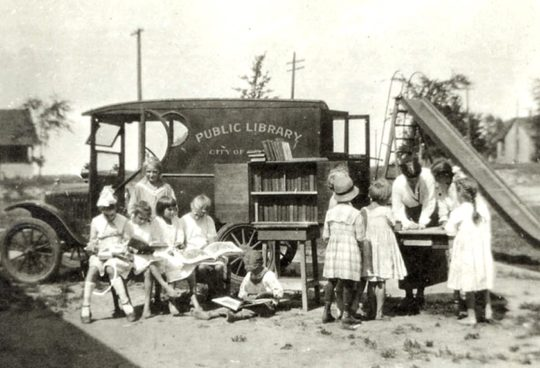 A bookmobile of the Saint Paul Public Library - the best examples of libraries on wheels