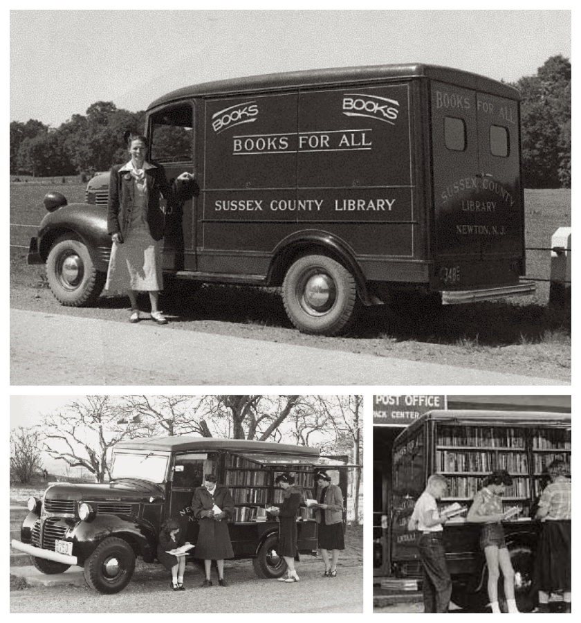 A bookmobile of the Sussex County Library