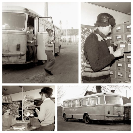 A bookmobile of the Warsaw Public Library, 1973