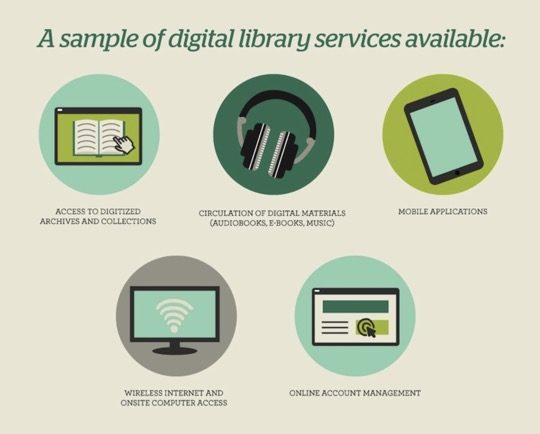 A sample of digital library services