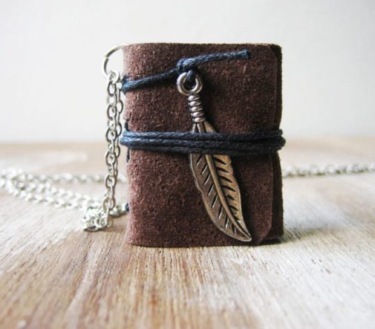 Akinto - miniature book necklace