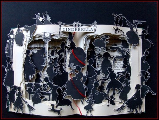 Artful Living book sculptures - Cinderella