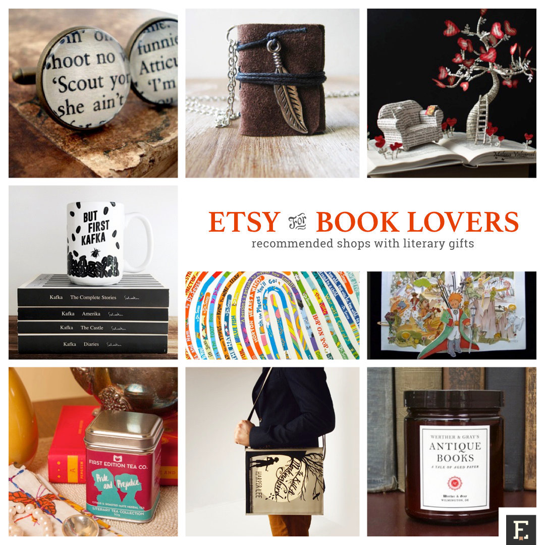 Best literary Etsy shops with gifts for book lovers