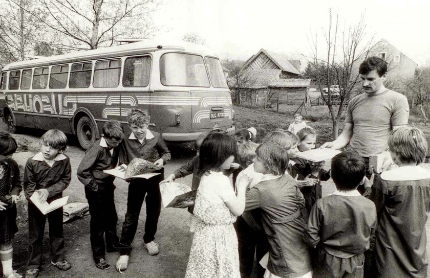 Bibliobus of the Olsztyn Public Library, 1987