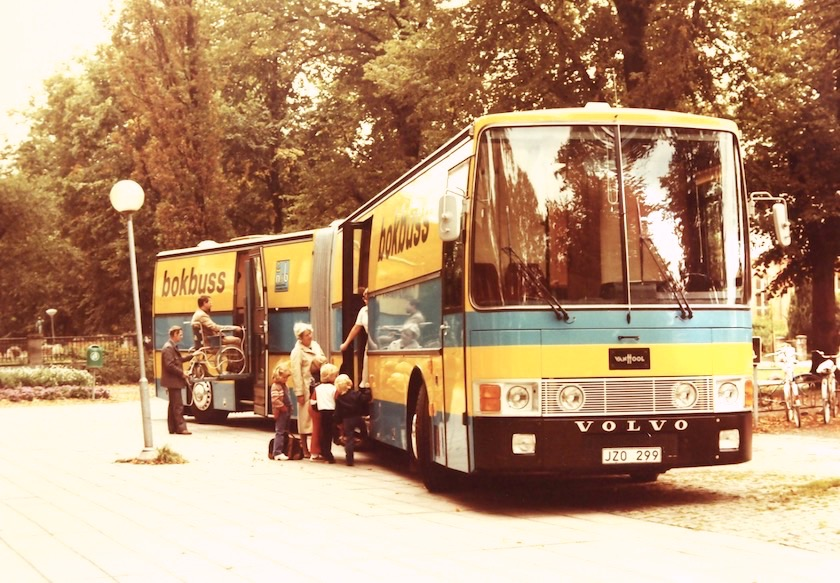 Bokbuss III - the 3rd bookmobile of the Norrkoping Public Library Sweden 1990s