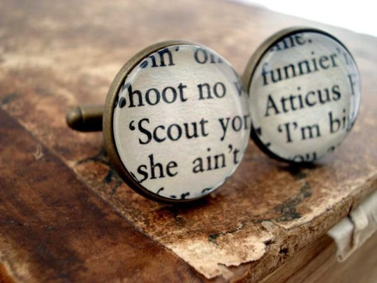 Bookity book cufflinks To Kill a Mockingbird