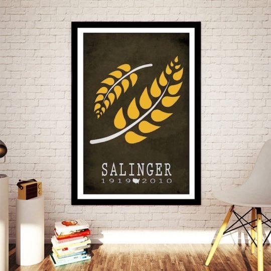 Creative Daffodil literary posters - J.D. Salinger