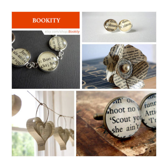 Etsy shops for book lovers: Bookity