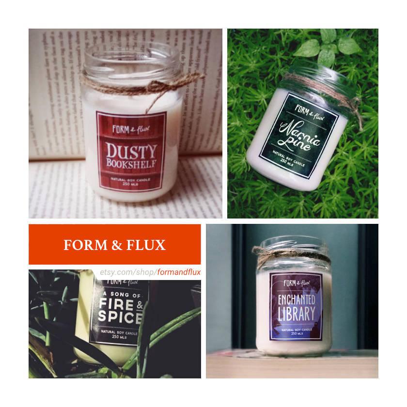 Etsy shops for book lovers: Form & Flux