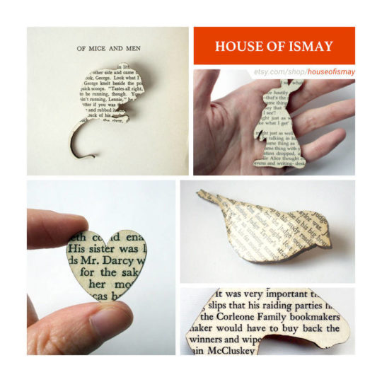 Etsy shops for book lovers: House of Ismay