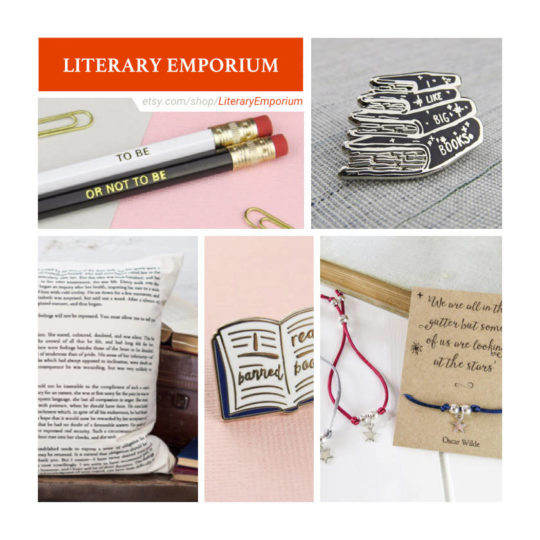 Etsy shops for book lovers: Literary Emporium