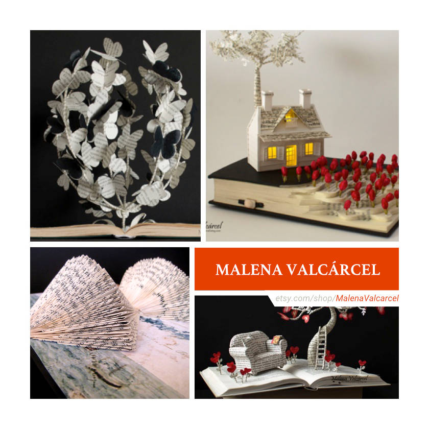 Etsy shops for book lovers: Malena Valcárcel