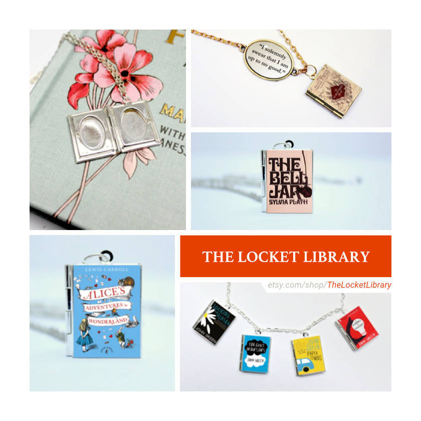 Etsy shops for book lovers: The Locket Library