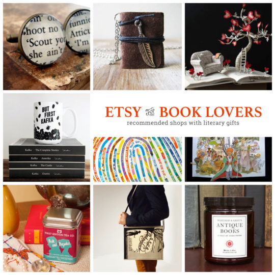 Etsy shops with gifts for book lovers