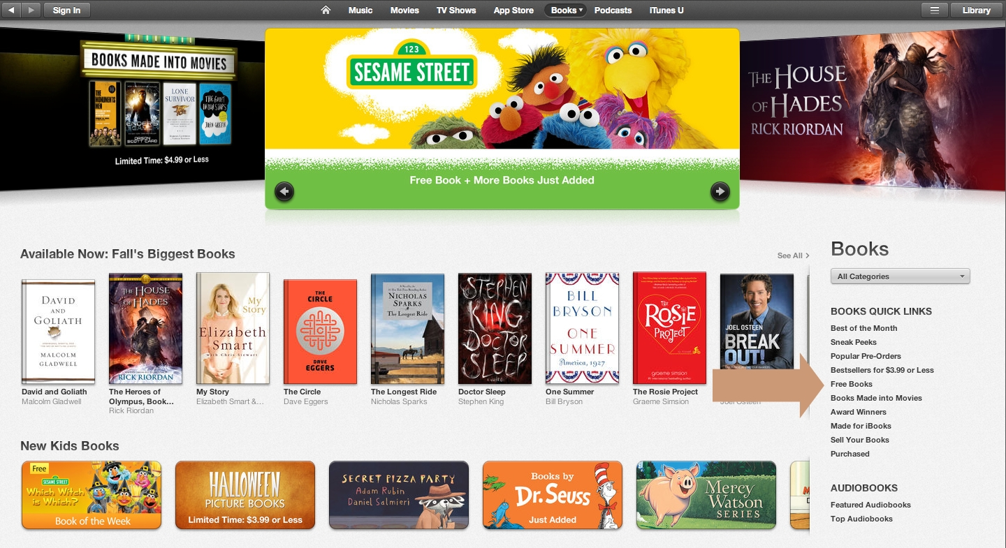 8 sources of free books for ibooks free books in ibooks store ccuart Choice Image